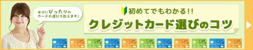 初心者向けクレジットカード特集
