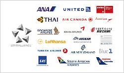 世界最大の航空提携グループ「スターアライアンス」提携航空会社でANAマイルが貯められる!